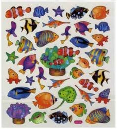 Autocollants Eté - Stickers REEF FISH