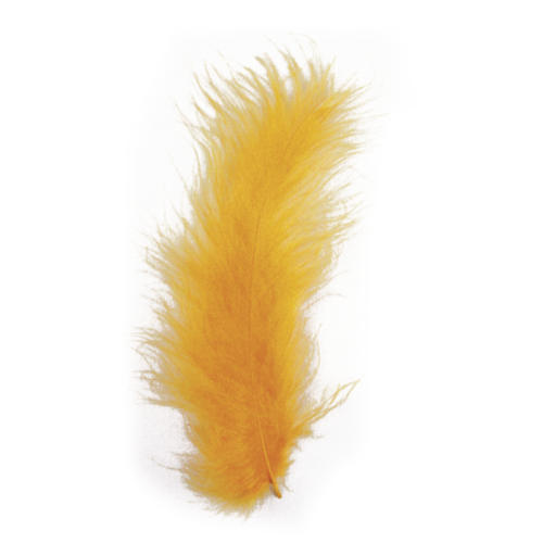 PLUMES - 10/15 cm Couleur ORANGE (15u)