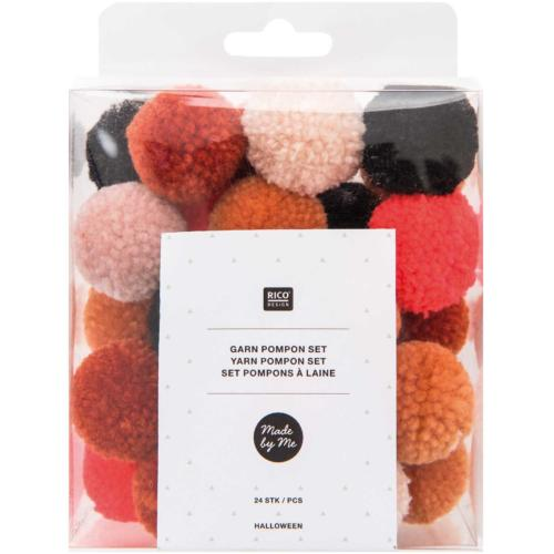 Collection Halloween - Assortiment POMPONS Laine (x24)