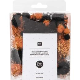 Collection Halloween - Assortiment POMPONS Glitter (x60)