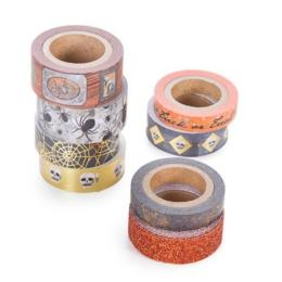 "Masking Tape HALLOWEEN - Asoortiment ""NOIR/ORANGE"" MARTHA STEWART"
