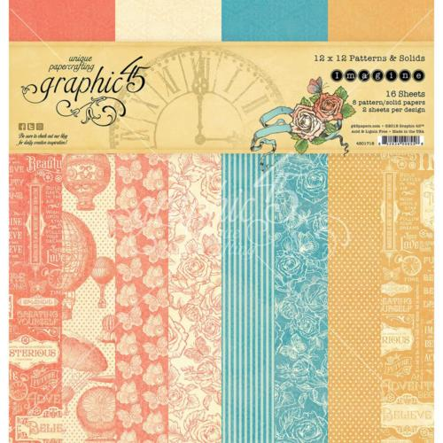 Graphic 45 - Imagine Collection - PAPER PAD PATTERNS