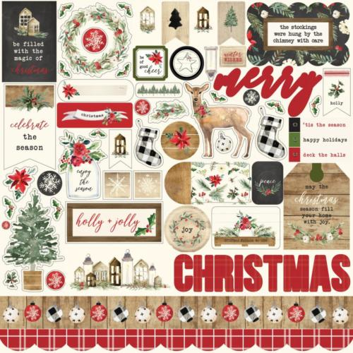 CHRISTMAS - Stickers 30x30 - Carta Bella