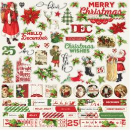 SIMPLE VINTAGE CHRISTMAS - Stickers Combo - Simple Stories