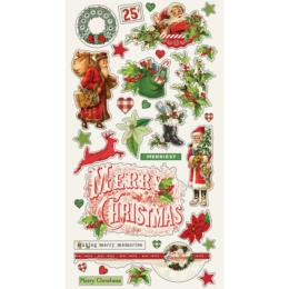 SIMPLE VINTAGE CHRISTMAS - Chipboard - Simple Stories