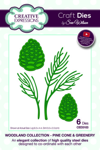 Découpe Creative Expressions - Woodland Collection - PINE CONE GREENERY