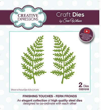 Découpe Creative Expressions - Finishing Touches - FERN FRONDS