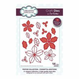 Découpe Creative Expressions - Festive Collection - POINSETTIA ADDITIONS