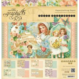 Graphic 45 - SWEET SENTIMENTS - Papercrafting ( 24 papiers )