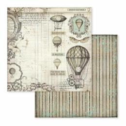 STAMPERIA - Collection VOYAGES FANTASTIQUES - Air Balloon papier 30x30