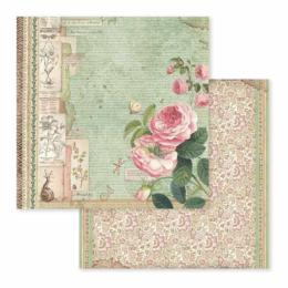 STAMPERIA - Collection SPRING BOTANIC - English Roses papier 30x30