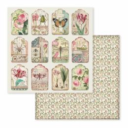 STAMPERIA - Collection SPRING BOTANIC - Tags papier 30x30