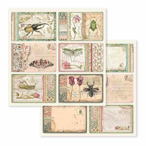 STAMPERIA - Collection SPRING BOTANIC - Cards papier 30x30