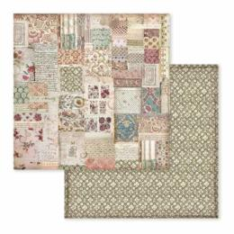 STAMPERIA - Collection SPRING BOTANIC - Patchwork papier 30x30
