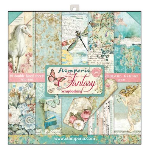 STAMPERIA - Collection WONDERLAND - Kit Assortiment 10 Papiers