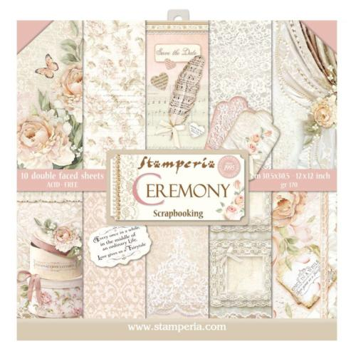 STAMPERIA - Collection CEREMONY - Kit Assortiment 10 Papiers