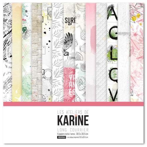 Les Ateliers de Karine - KIT PAPIERS LONG COURRIER