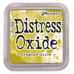 Encre Distress Oxide - CRUSHED OLIVE Ranger Ink by Tim Holtz