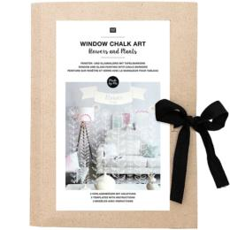 WINDOWS CHALK ART - Patron pour vitre FLOWERS AND PLANTS