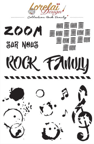 Pochoir Lorelai Design - ROCK FAMILY