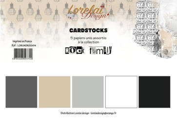 Lorelai Design - Kit Papiers CARDSTOCKS ROCK FAMILY
