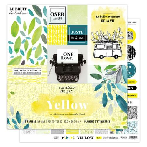 Florilèges Design - LE Kit de Papiers Imprimés YELLOW