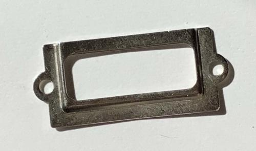 Porte Etiquette en Métal - RECTANGLE ARGENT  21x50mm