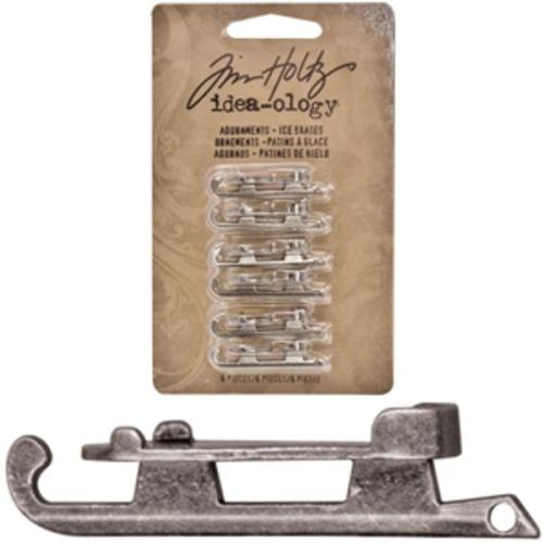 Tim Holtz Idea Ology - Charms PATINS A GLACE
