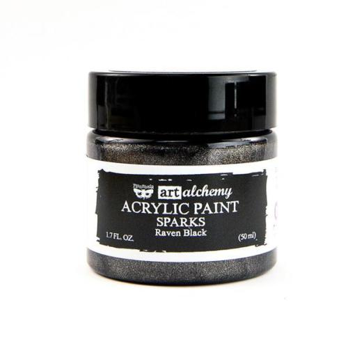 Peinture Acrylique Métallique Art Alchemy RAVEN BLACK Prima Marketing