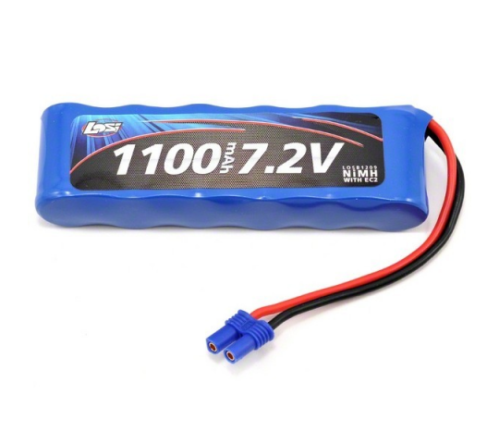 Accu Ni-Mh 1100mAh 7.2V EC2 pour Mini Eight - LOSI