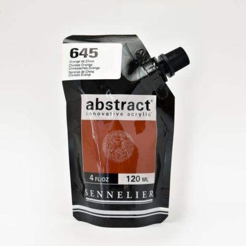 Peinture Acrylique ABSTRACT - 645 Orangé de Chine 120ml