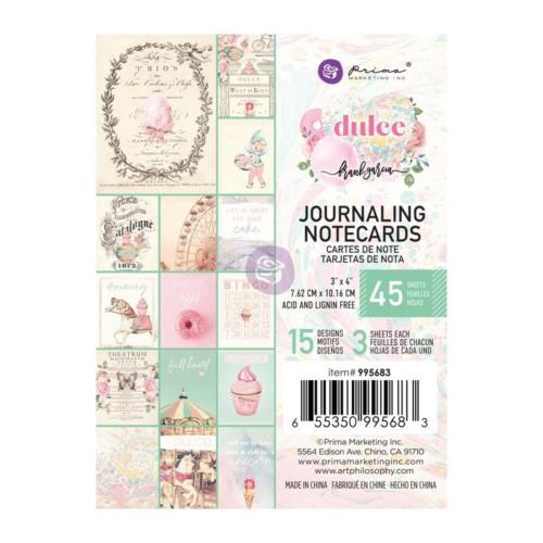 Prima Marketing  - DULCE COLLECTION - Journaling Cards