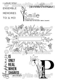 Tampons Clear - O JARDIN - Smile  - Mes P'Tits Ciseaux