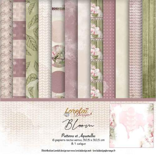 Lorelai Design - LE KIT Pack Patterns et Aquarelle BLOOM