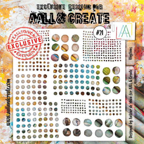 Pochoir Aall & Create - RHYTHMS N°21