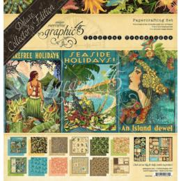 Graphic 45 - Pack Deluxe Collector 's - TROPICAL TRAVELOGUE