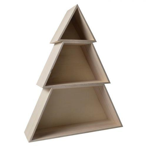 Support Bois - ETAGERE FORME SAPIN