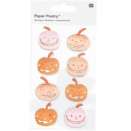Stickers HALLOWEEN - Citrouilles 3D