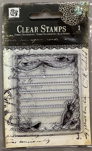 Tampon Clear - Cadre Shabby PIXIE GLEN - Prima Marketing