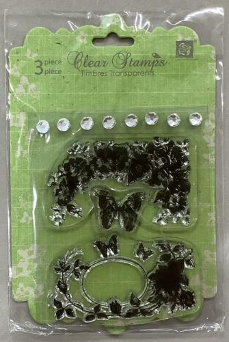 Tampon Clear - Cadre SHABBY FLEURS - Prima Marketing
