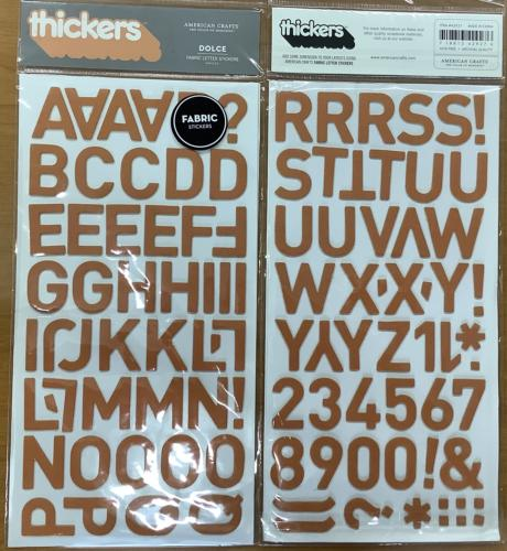 STICKERS Alphabet - Thickers DOLCE ORANGE