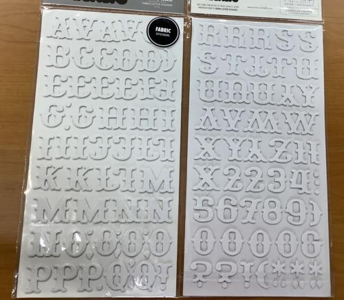 STICKERS Alphabet - Thickers BY THE YARD BLANC