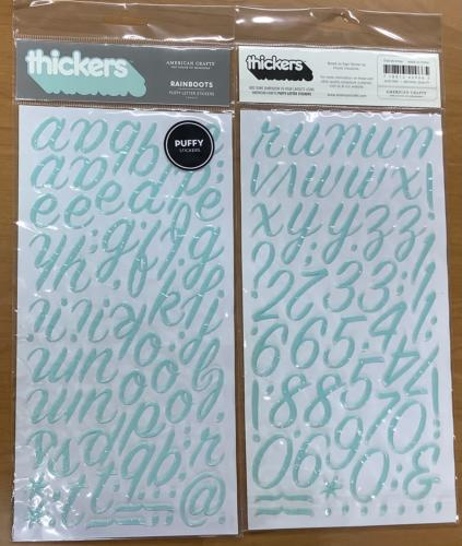 STICKERS Alphabet - Thickers RAINBOOTS BLEU