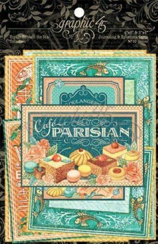 JOURNALING & EPHEMERA CARDS- Café Parisian - Graphic 45