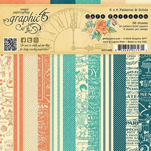 Paper Pad 15x15 - GRAPHIC 45 - Patterns CAFE PARISIAN