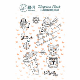 Tampon Clear - Les tribulations d'Hapi HAPI A LA NEIGE - Ha.Pi Little Fox