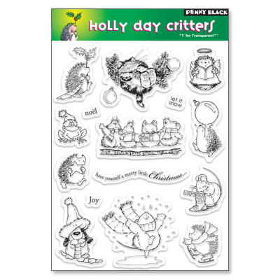 Tampon Clear - HOLLY DAY CRITTERS Penny Black