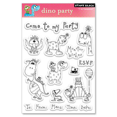 Tampon Clear - DINO PARTY Penny Black