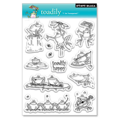 Tampon Clear - TOADILY Penny Black