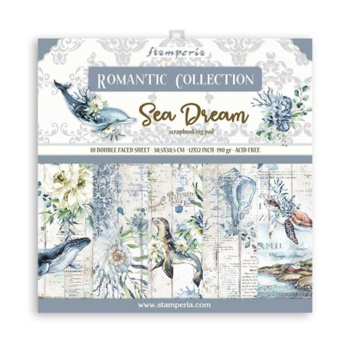 STAMPERIA - Collection SEA DREAM - Kit Assortiment 10 Papiers